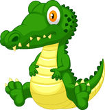 Cute crocodile cartoon Stock Images