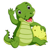 Cute crocodile cartoon. Illustration of Cute crocodile cartoon royalty free illustration