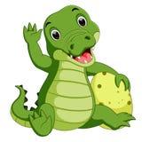 Cute crocodile cartoon. Illustration of Cute crocodile cartoon Royalty Free Stock Images