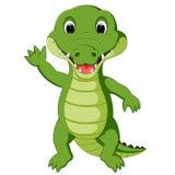 Cute crocodile cartoon. Illustration of Cute crocodile cartoon Royalty Free Stock Photo