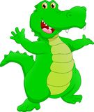 Cute crocodile cartoon stock illustration