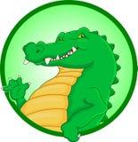 Cute crocodile cartoon waving Royalty Free Stock Image
