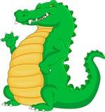 Cute crocodile cartoon waving Stock Photos