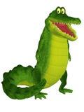Cute Crocodile Character Stock Image