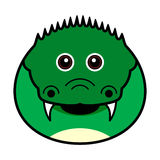 Cute Crocodile Vector. Cute animal faces in  (One of 25 of them Stock Images