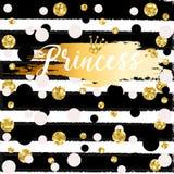 Cute crown and princess saying. Royalty Free Stock Image