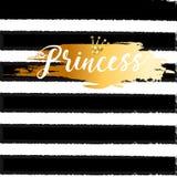 Cute crown and princess saying. Stock Photos