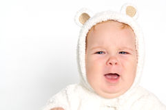Cute crying baby Royalty Free Stock Image