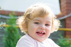Cute crying infant Stock Photography