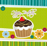 Cute cup cake Stock Photography