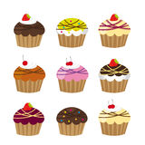 Cute cup cakes Royalty Free Stock Photo