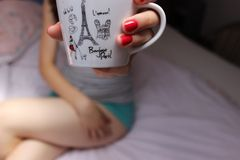Cute cup Stock Photo