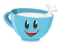 Cute cup of milk Royalty Free Stock Images