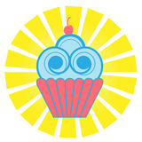 Cute Cupcake Royalty Free Stock Images