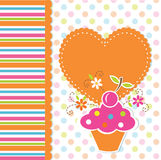 Cute cupcake background Stock Photos