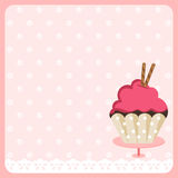 Cute Cupcake Background. Scalable vectorial image representing a cute cupcake background Stock Photography