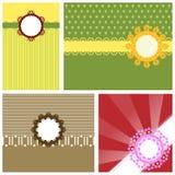 Cute cupcake collection vector card Royalty Free Stock Photos
