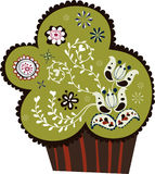 Cute cupcake design Royalty Free Stock Photography