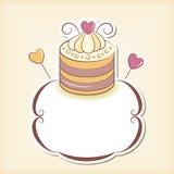Cute cupcake design frame Royalty Free Stock Image