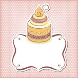 Cute cupcake frame Royalty Free Stock Images