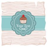Cute cupcake gift card Stock Images
