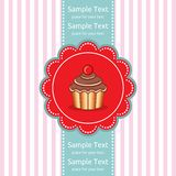 Cute cupcake gift card Royalty Free Stock Image