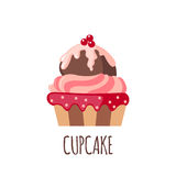 Cute cupcake icon Royalty Free Stock Photo