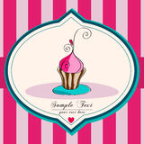Cute cupcake illustration Royalty Free Stock Image