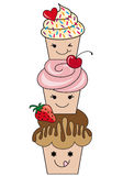 Cute cupcakes,  Stock Images