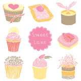 Cute Cupcakes. Cute sweet Cupcakes. Seamless Pattern Royalty Free Stock Photography