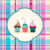 Cute cupcakes illustration Royalty Free Stock Photos