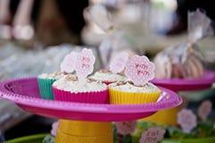 Cute cupcakes at a market Stock Image