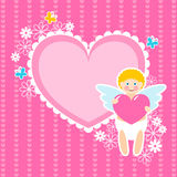 Cute cupid Stock Photo
