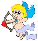 Cute cupid with bow royalty free illustration