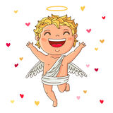 Cute Cupid. Excellent gift card for Valentine's Day Stock Images