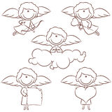 Cute Cupid Set Royalty Free Stock Photos