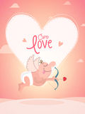 Cute cupid for Valentine's Day celebration. Royalty Free Stock Photo