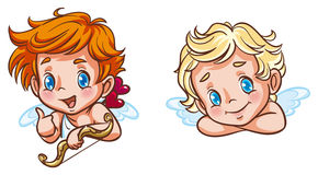 Cute cupids Royalty Free Stock Image