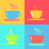 Cute cups and cakes. Royalty Free Stock Photography