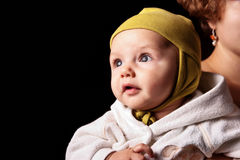 Cute curiose  baby Royalty Free Stock Image