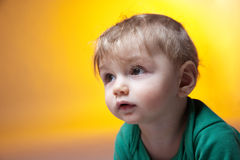 Cute curious  baby Stock Image