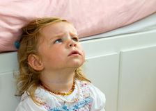 Cute, curious toddler Royalty Free Stock Photo