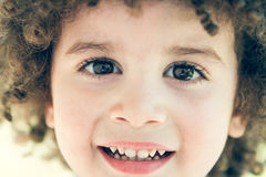Cute curly hair kid Royalty Free Stock Photography