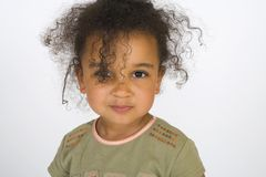 Cute and Curly Too Stock Photo