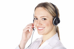 Cute customer operator Stock Image