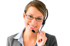 Cute customer service agent Stock Photos