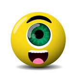 Cute cyclop character Stock Image
