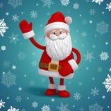 Cute 3d Santa Claus cartoon character Stock Image