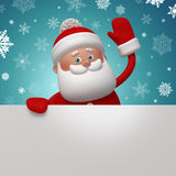 Cute 3d Santa Claus character holding blank page Royalty Free Stock Photo