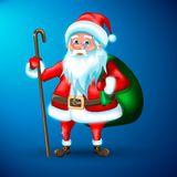 Cute 3D Santa Claus vector illustration